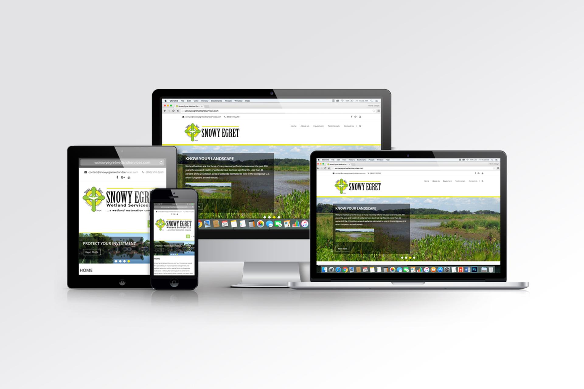 Harris Design Concepts responsive web design project